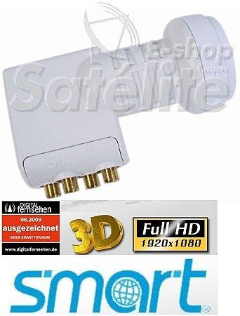 LNBF Smart Titanium QUAD Universal Banda Ku (0,1db)  - EUROPA