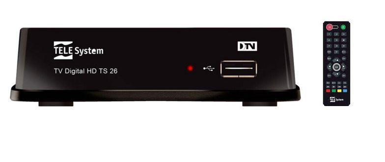 Conversor de TV Digital TS26 TELE Sytem - HDTV