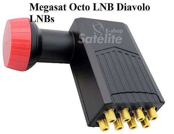 LNBF OCTO KU UNIVERSAL MEGASAT (0,1dB) - EUROPA