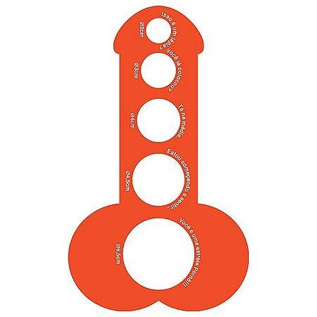 Pintômetro - régua para medir tamanho e largura do pênis  - 10 unidades