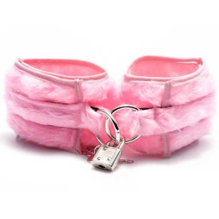 Algema erótica em pelúcia rosa