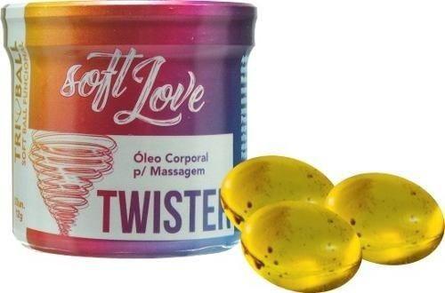 Twister Bolinha funcional excitante vaginal 5 em 1  - (LUBRIFICA, ESQUENTA, ESFRIA, VIBRA, PULSA)