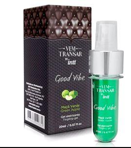Good Vibe  (vem transar) - gel eletrizante - vibrador líquido sabor maçã verde