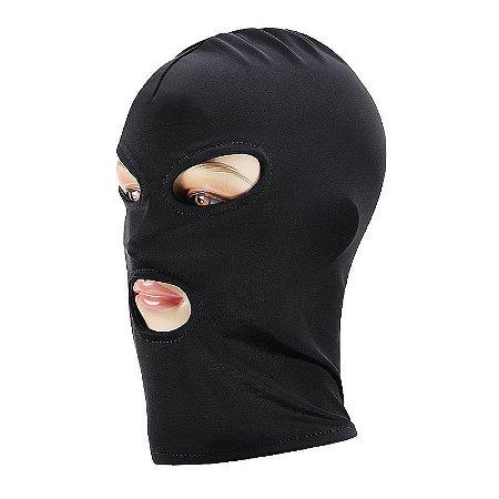 Capuz máscara lycra com boca e olhos livres