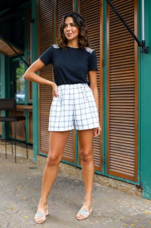 LONDON COLLECTION | Shorts Xadrez Doris