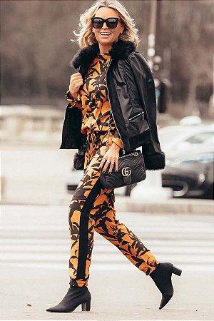PARIS COLLECTION   Calça Estampa Fleuri
