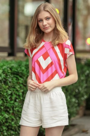 ESPECIAL SALE | Blusa Teen Geometric Pink