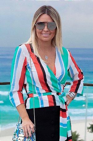 ESPECIAL SALE | Blusa Listras Colors Amarração