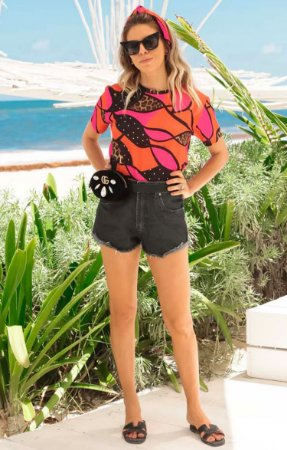 TULUM COLLECTION | Shorts Jeans Black Basic