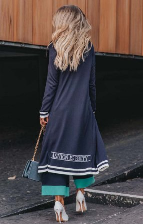 URBAN STYLE | Cardigan Tricot Midi Fashion