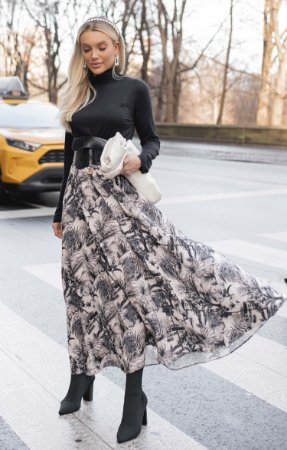 NYC COLLECTION | Saia Midi Toile de Jouy