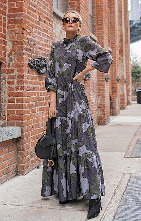 NYC COLLECTION | Vestido Longo Camouflage