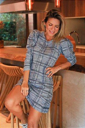 L'AMOUR COLLECTION | Vestido Tweed Ivês Bleu