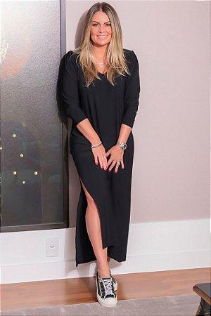 Vestido Fenda Margot Noir | L'AMOUR COLLECTION