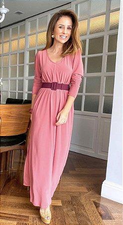 Vestido Fenda Margot Terre Rose | L'AMOUR COLLECTION