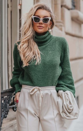 Tricot Boufée Vert | L'AMOUR COLLECTION