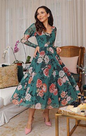 Vestido Floral Monet Tule | BLESSED ART