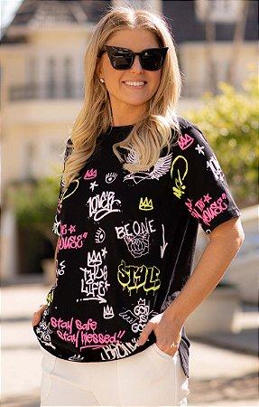 Camiseta Grafite Preta   BLESSED ART