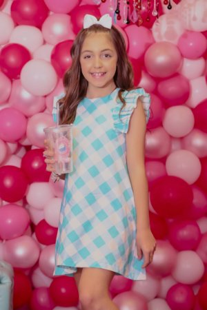 Vestido Blessinha Emmanuelle Turquesa | RIVIERA FRANCESA
