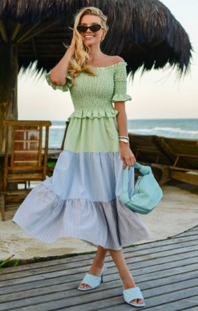 Vestido Hadria Midi Verde | RIVIERA FRANCESA