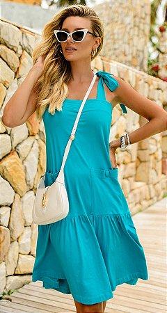 Vestido Ariane Turquesa   RIVIERA FRANCESA