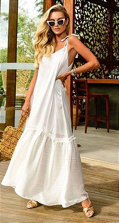 Vestido Dominique Branco | RIVIERA FRANCESA