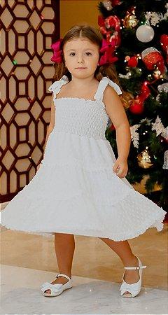Vestido Infantil Blessinha Fantine Branco | RIVIERA FRANCESA