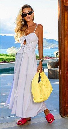 Vestido Anelise Laço Frontal Branco | RIVIERA FRANCESA