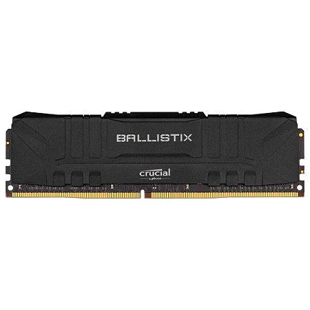 Memória Crucial Ballistix 8gb DDR4 2666mhz BL8G26C16U4B Preto
