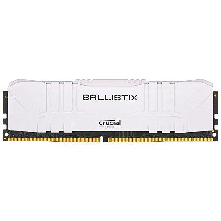 Memória Crucial Ballistix 8gb DDR4 3000mhz BL8G30C15U4W Branco