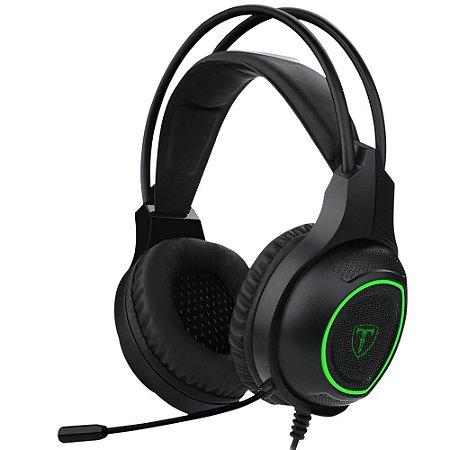 Headset Gamer T-Dagger Atlas T-RGH201 Preto e Verde