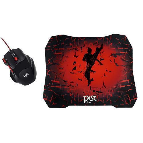Kit Mouse Gamer E Mousepad Para Jogos Pc