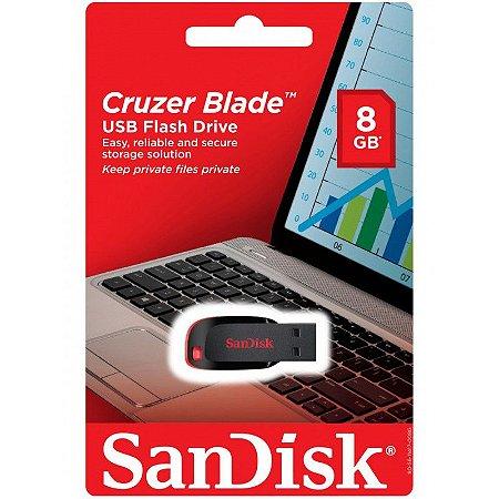 Pendrive 8GB - Cruzer Blade - Sandisk Z50