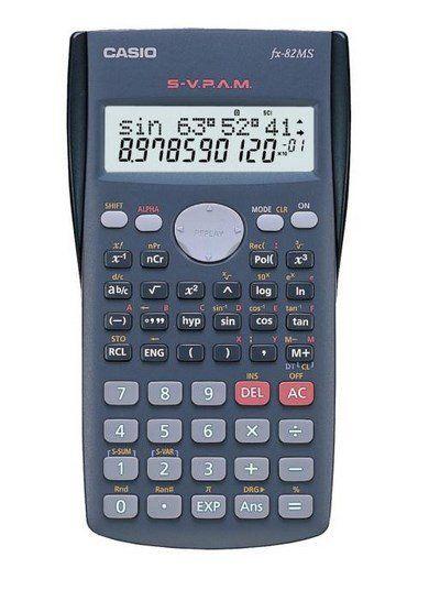 Calculadora Científica 12 Dígitos Fx-82ms-Ms-Sc4 Dt Cinza, 240 Funções Display Grande - Casio