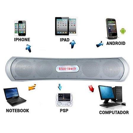 Caixa De Som Bluetooth Usb Cartão Sd