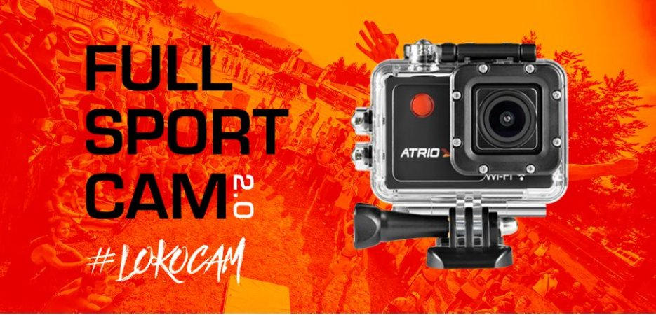 """Câmera Filmadora Fullsport Cam 2.0 Full HD Lente Angular 140° Tela 2.0"""" WiFi - Atrio"""