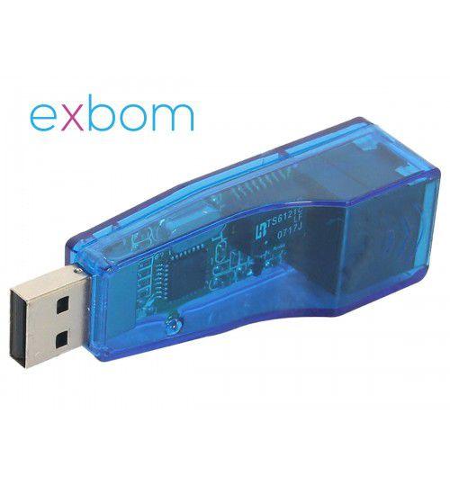 Adaptador de Rede USB x Rj45 Rede Cabeada Azul UL 100