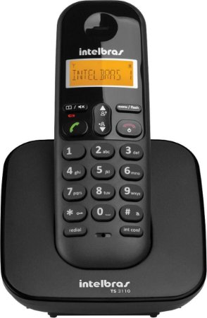 Telefone sem Fio Digital Intelbras TS3110 Preto