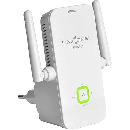 Ponto De Acesso Extensor Wireless 300mbps L1-Ap312n Branco Link One