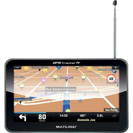 Navegador GPS  Tracker III Tela 5.0pol com TV Digital  - Multilaser GP036
