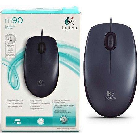 Mouse Logitech M90 Box USB Preto