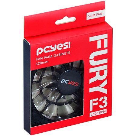 Cooler Fan Para Gabinete Fury F3 120MM Slim - F3120SL Pcyes