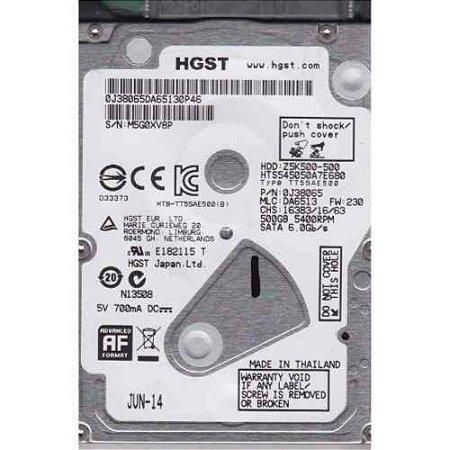 HD para notebook 500gb 5400 rpm Hitachi HGTS sn
