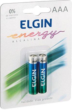 Pilha Alcalina Elgin AAA - LR03