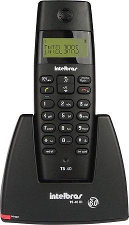 Telefone sem fio Com ID Intelbras TS40ID PRETO