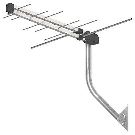 Antena Externa HDTV 4 EM 1 VHF/UHF/FM Digital PROHD-3610DB 6DBI, Acompanha Cabo 12M + MASTRO
