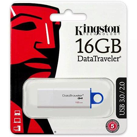 Pendrive Kingston DTIG4 16GB USB 3.0/2.0  Branco/Azul