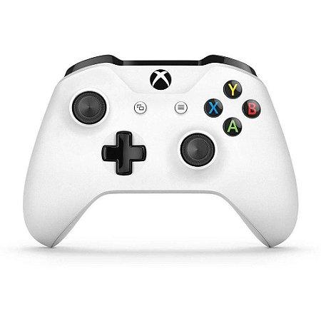 Controle Sem Fio Para Xbox One S A Pilha - Branco Original