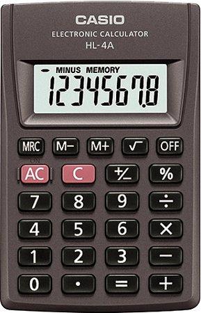ea842700c46 Calculadora de Bolso Casio HL-4A-S4-SP Preta - GBinfo