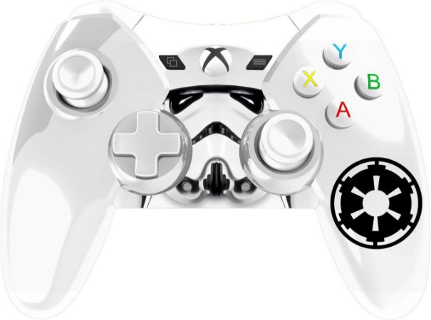 Controle com Fio STAR WARS STORMTRO/0385 XboX 360 Branco